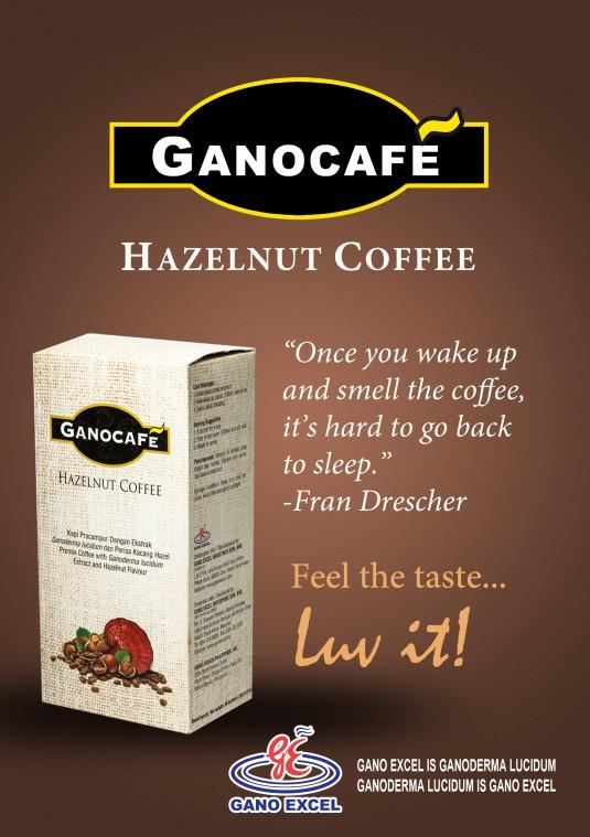 Hazelnut Coffee: καφές με γεύση φουντούκι και εκχύλισμα ganoderma lucidum (γανόδερμα)