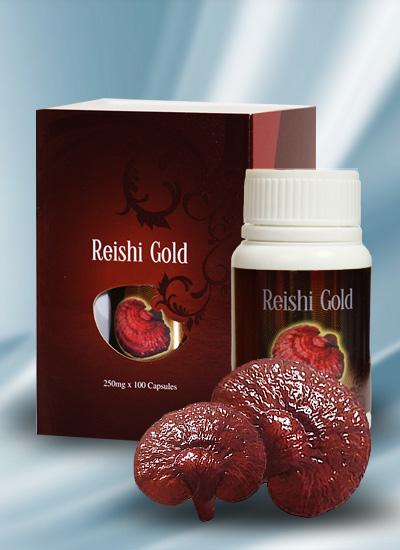 Reishi Gold: ταμπλέτες με απόσταγμα ganoderma lucidum (γανόδερμα) της Gano Excel
