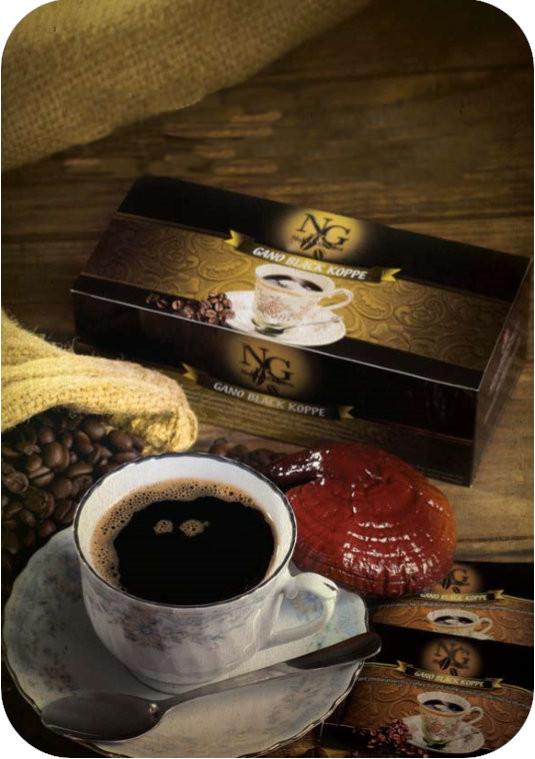 Noble Garden Gano Black Koppe: μαύρος καφές με εκχύλισμα ganoderma lucidum (γανόδερμα) της gano excel