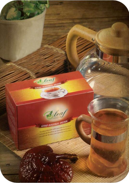 Oleaf Gano Rooibos Drink: κόκκινο τσάι rooibos με γανόδερμα (ganoderma lucidum) της gano excel