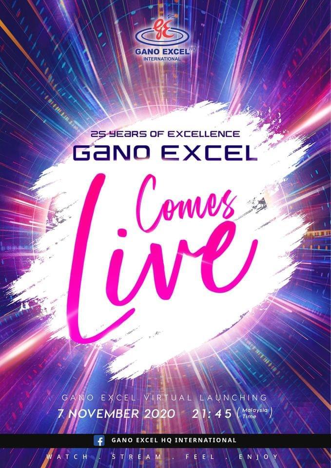 Αφίσα της εκδήλωσης των 25ων γενεθλίων της Gano Excel